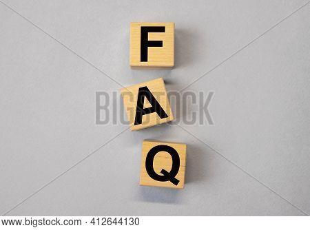 Faq Acronym, Qa And Q Concept Of Questions