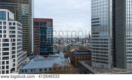 The Financial District In The City Of Frankfurt Germany - Frankfurt, Germany - March 11, 2021