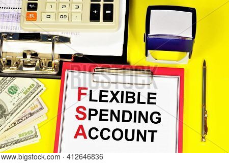 Flexible Expense Account. Text Label On The Planning Folder. Financial Expenses With Preferential Ta