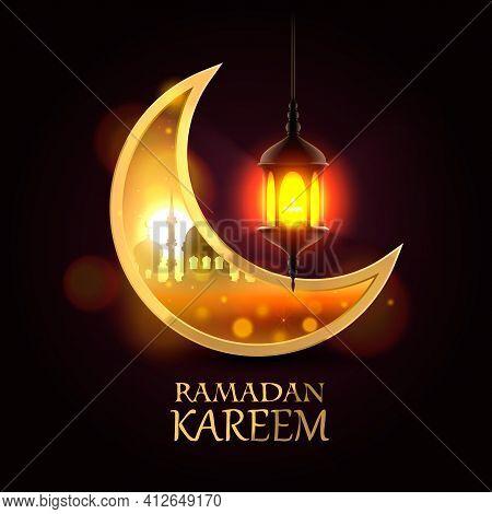 Ramadan Kareem Cover, Ramadan Mubarak Background, Template Design Element, Vector