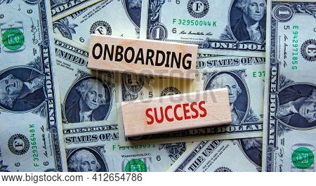 Onboarding Success Symbol. Wooden Blocks With Words 'onboarding Success'. Beautiful Background From