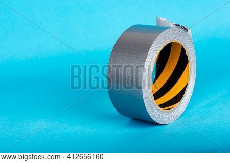 Roll Of Adhesive Tape. A Reel Of Scotch Tape.