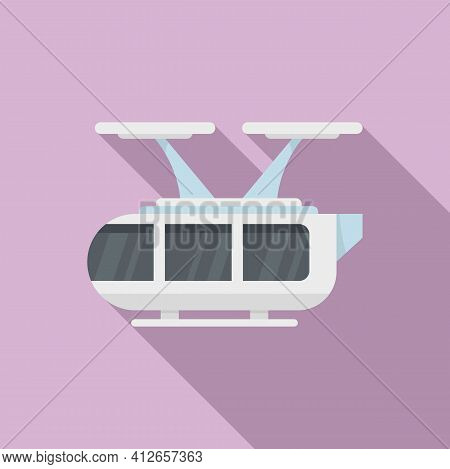 Autonomous Air Taxi Icon. Flat Illustration Of Autonomous Air Taxi Vector Icon For Web Design