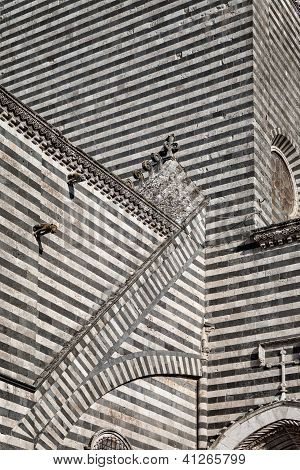 Orvieto Duomo, detail of side wall - Umbria Italy