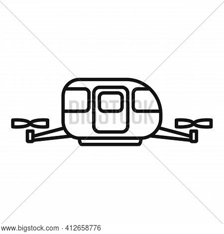 Unmanned Taxi Cab Icon. Outline Unmanned Taxi Cab Vector Icon For Web Design Isolated On White Backg