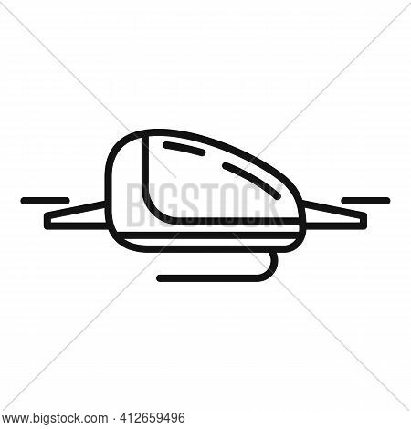 Automated Air Taxi Icon. Outline Automated Air Taxi Vector Icon For Web Design Isolated On White Bac