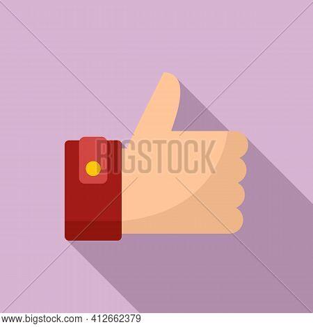 Like Affiliate Marketing Icon. Flat Illustration Of Like Affiliate Marketing Vector Icon For Web Des