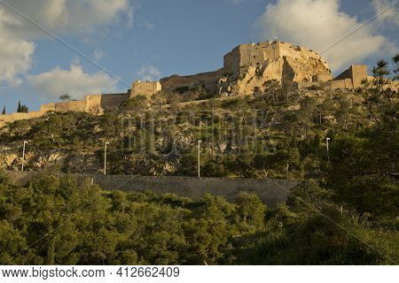 Alicante, Spain. 24 April 2017. Santa Barbara Fortress In Alicante, Costa Blanca, Spain.