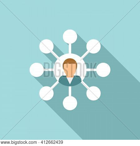 Affiliate Marketing Scheme Icon. Flat Illustration Of Affiliate Marketing Scheme Vector Icon For Web