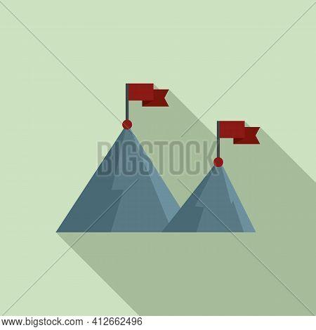 Affiliate Marketing High Target Icon. Flat Illustration Of Affiliate Marketing High Target Vector Ic