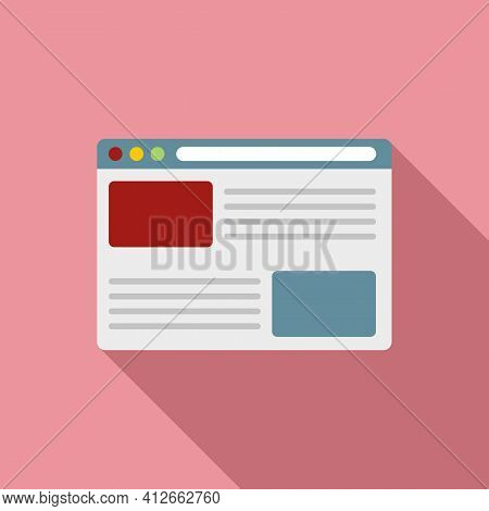 Affiliate Marketing Web Page Icon. Flat Illustration Of Affiliate Marketing Web Page Vector Icon For