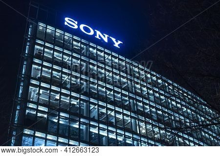 Modern Office Buildings At Sony Center Berlin Potsdamer Square - Berlin, Germany - March 11, 2021