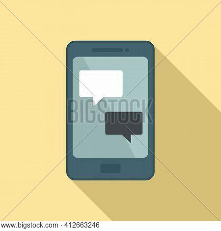 Smartphone Affiliate Marketing Icon. Flat Illustration Of Smartphone Affiliate Marketing Vector Icon