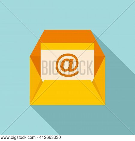 Marketing Info Mail Icon. Flat Illustration Of Marketing Info Mail Vector Icon For Web Design
