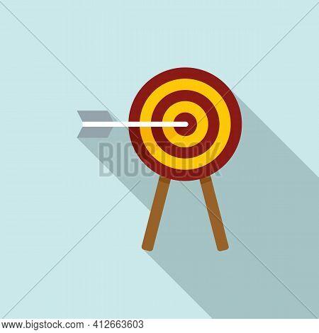 Affiliate Marketing Target Icon. Flat Illustration Of Affiliate Marketing Target Vector Icon For Web