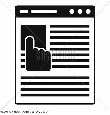 Online Affiliate Marketing Icon. Simple Illustration Of Online Affiliate Marketing Vector Icon For W