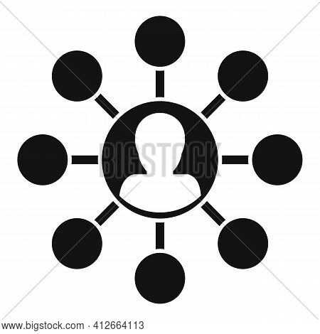 Affiliate Marketing Scheme Icon. Simple Illustration Of Affiliate Marketing Scheme Vector Icon For W
