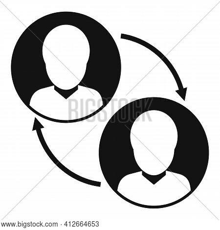 Social Affiliate Marketing Icon. Simple Illustration Of Social Affiliate Marketing Vector Icon For W
