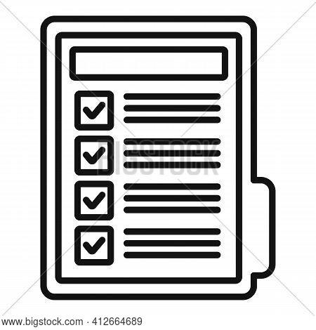 Affiliate Marketing Folder Icon. Outline Affiliate Marketing Folder Vector Icon For Web Design Isola