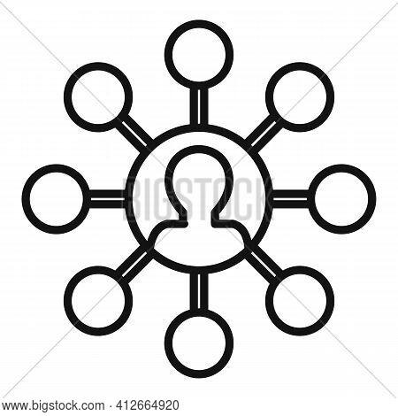 Affiliate Marketing Scheme Icon. Outline Affiliate Marketing Scheme Vector Icon For Web Design Isola