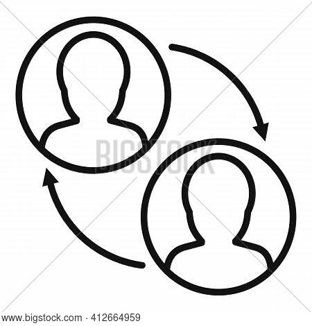 Social Affiliate Marketing Icon. Outline Social Affiliate Marketing Vector Icon For Web Design Isola