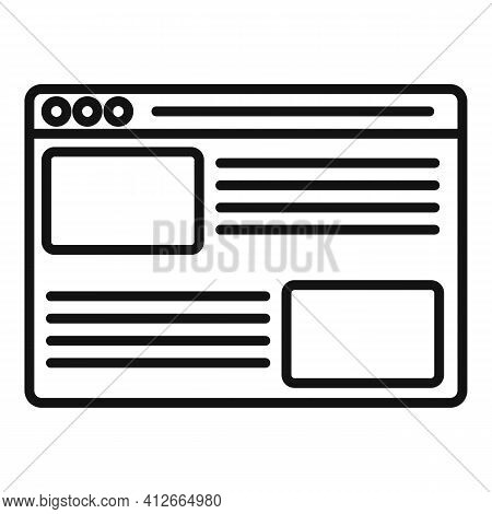 Affiliate Marketing Web Page Icon. Outline Affiliate Marketing Web Page Vector Icon For Web Design I