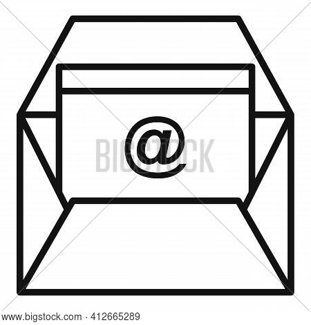 Marketing Info Mail Icon. Outline Marketing Info Mail Vector Icon For Web Design Isolated On White B