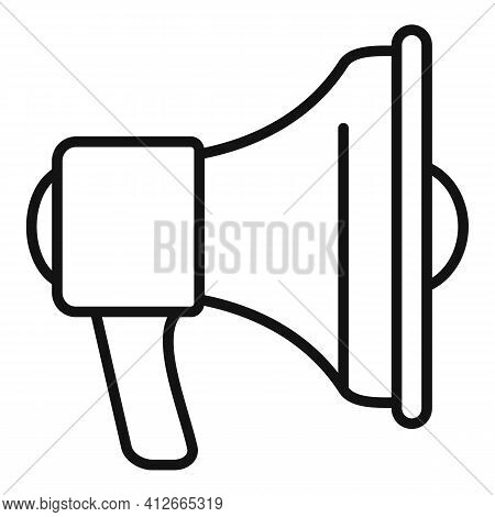 Affiliate Marketing Megaphone Icon. Outline Affiliate Marketing Megaphone Vector Icon For Web Design
