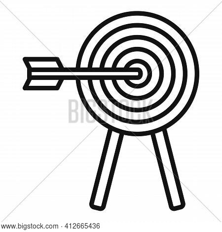 Affiliate Marketing Target Icon. Outline Affiliate Marketing Target Vector Icon For Web Design Isola