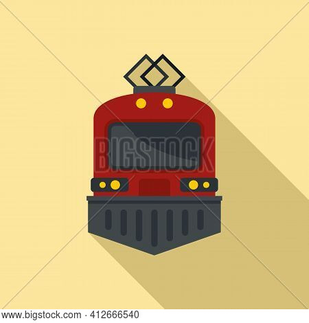 Urban Electric Train Icon. Flat Illustration Of Urban Electric Train Vector Icon For Web Design