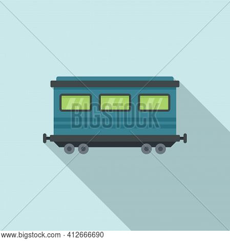 Old Passenger Wagon Icon. Flat Illustration Of Old Passenger Wagon Vector Icon For Web Design