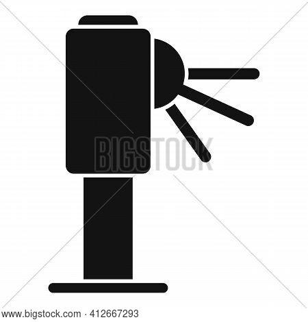Metro Turnstile Icon. Simple Illustration Of Metro Turnstile Vector Icon For Web Design Isolated On