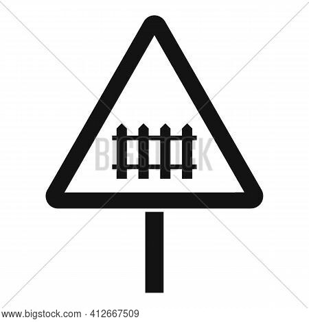 Railroad Sign Icon. Simple Illustration Of Railroad Sign Vector Icon For Web Design Isolated On Whit