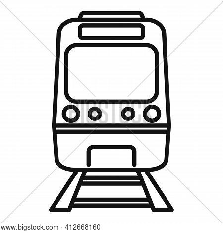 Subway Train Icon. Outline Subway Train Vector Icon For Web Design Isolated On White Background
