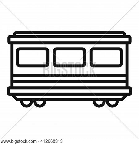 Old Passenger Wagon Icon. Outline Old Passenger Wagon Vector Icon For Web Design Isolated On White B