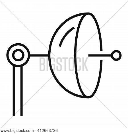 Parabolic Antenna Icon. Outline Parabolic Antenna Vector Icon For Web Design Isolated On White Backg
