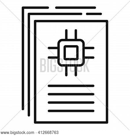 Communications Engineer Instruction Icon. Outline Communications Engineer Instruction Vector Icon Fo