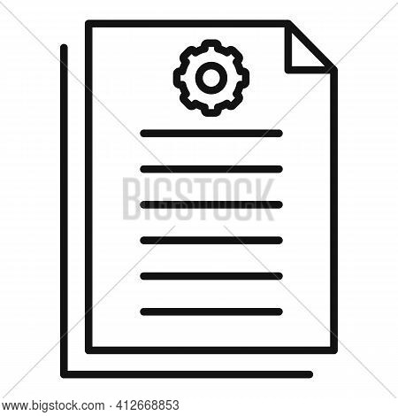 Antenna Document Icon. Outline Antenna Document Vector Icon For Web Design Isolated On White Backgro