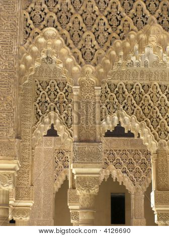 Delicate Filigree Stonework Of The Alhambra