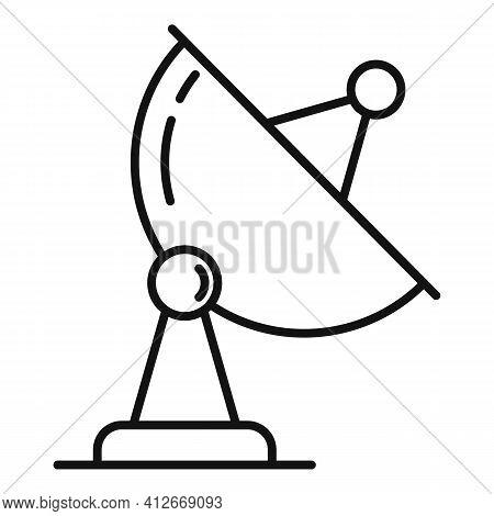 Satellite Antenna Icon. Outline Satellite Antenna Vector Icon For Web Design Isolated On White Backg