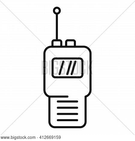 Modern Walkie Talkie Icon. Outline Modern Walkie Talkie Vector Icon For Web Design Isolated On White