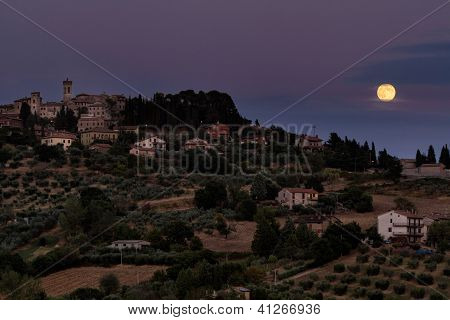 Umbrian Moonrise, Italy