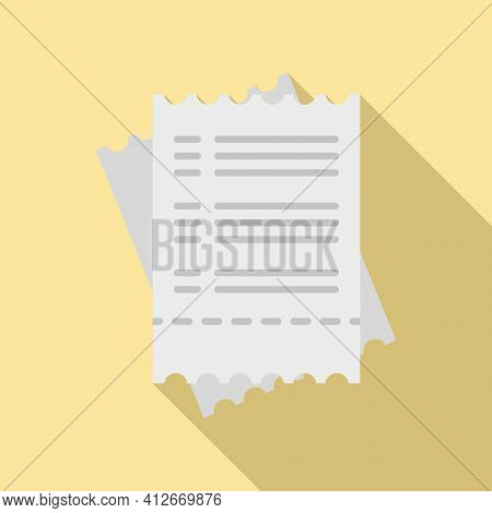 Tax Payment Bill Icon. Flat Illustration Of Tax Payment Bill Vector Icon For Web Design