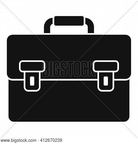 Tax Inspector Briefcase Icon. Simple Illustration Of Tax Inspector Briefcase Vector Icon For Web Des