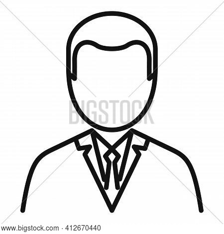 Tax Inspector Icon. Outline Tax Inspector Vector Icon For Web Design Isolated On White Background