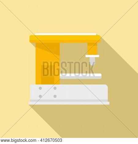 Cnc Milling Machine Icon. Flat Illustration Of Cnc Milling Machine Vector Icon For Web Design