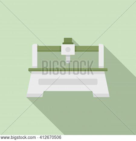 Milling Machine Tool Icon. Flat Illustration Of Milling Machine Tool Vector Icon For Web Design