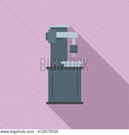 Milling Machine Metalwork Icon. Flat Illustration Of Milling Machine Metalwork Vector Icon For Web D