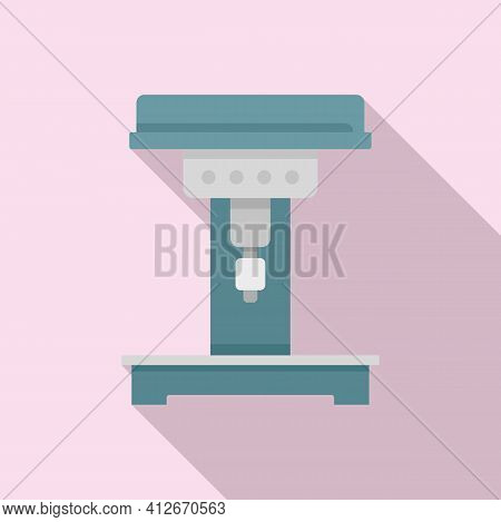 Engineer Milling Machine Icon. Flat Illustration Of Engineer Milling Machine Vector Icon For Web Des