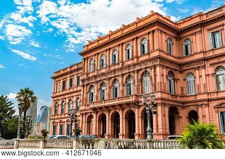 The Pink House, Government Building In Buenos Aires, Argentina